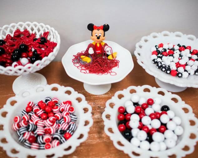 mesa decorada festa minnie