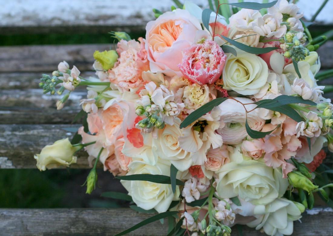 Soft Spring Flowers For Becca And Nick's Cheltenham Wedding