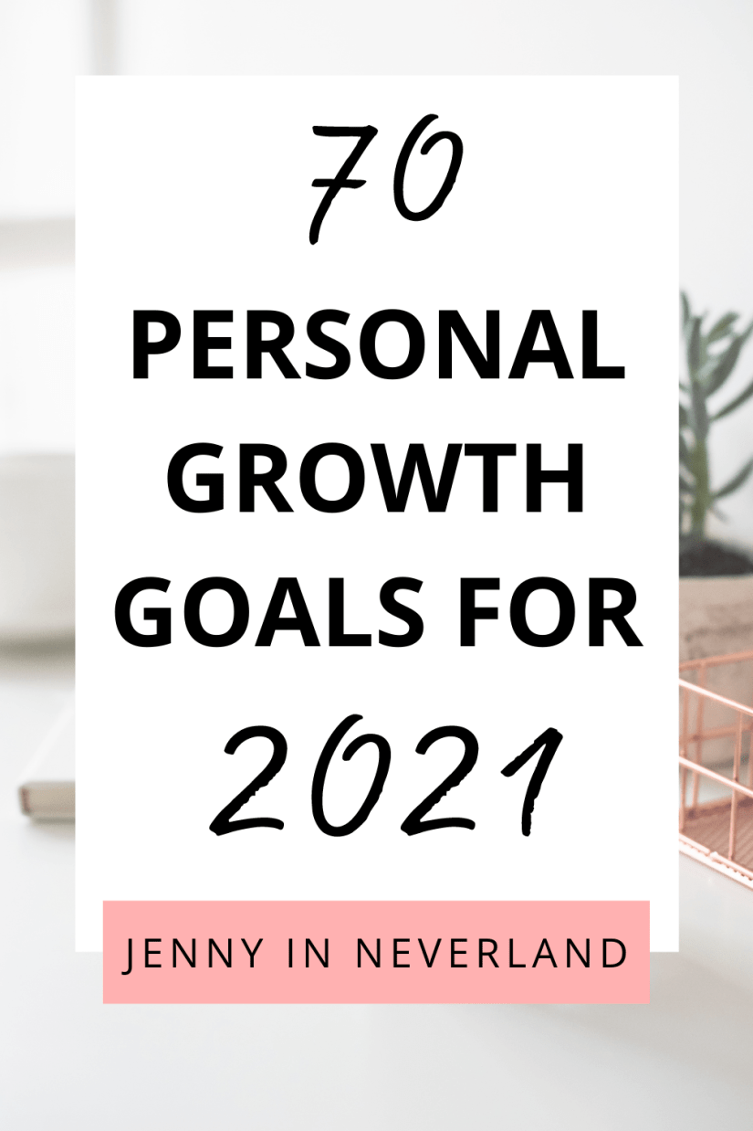 Personal Development Goals for 2021