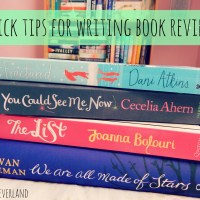 Quick Tips for Writing Book Reviews
