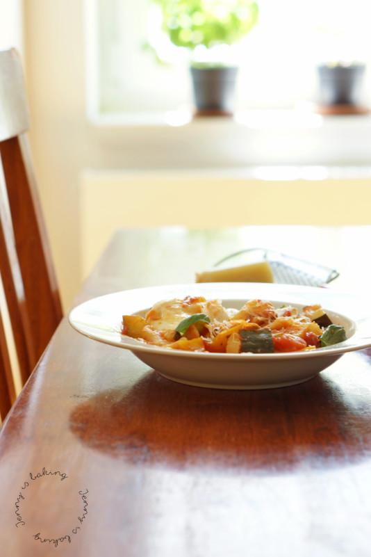 one pot vegetable lasagna