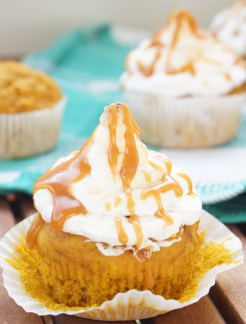Pumpkin Cupcake with Caramel