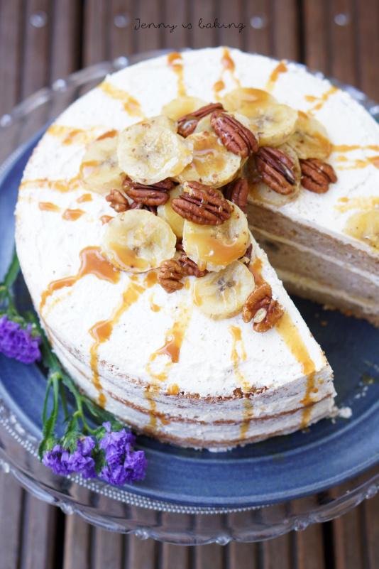 Bananenkuchen mit Brownbutter-Creme