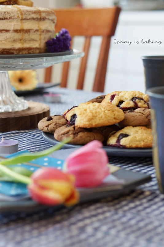 Heidelbeer-Muffin-Cookies