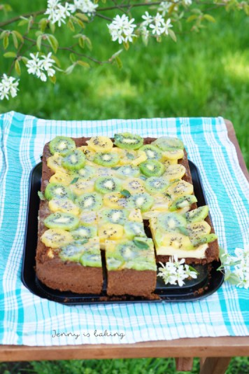 kiwi cream cheese cake