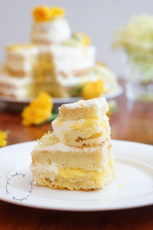 elderflower and lemon wedding cake