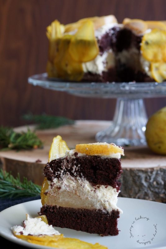 Festliche Schoko Birnen Torte Zu Weihnachten Jenny Is Baking