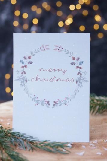 Weihnachtskarte Merry Christmas gestaltet von Ellen Martens