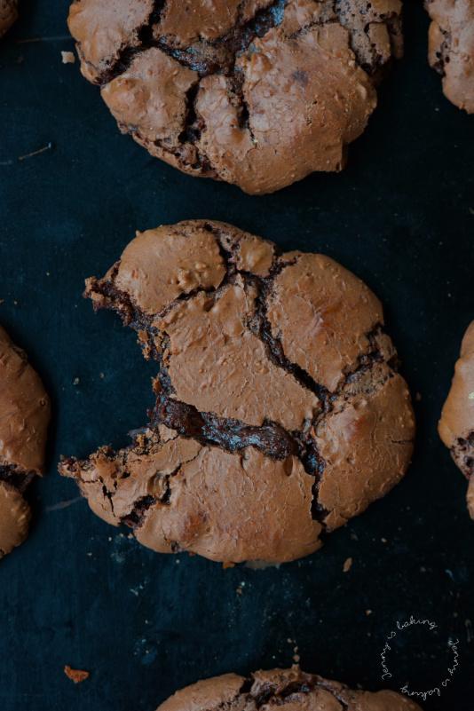 Zartschmelzende Schoko-Brownie-Cookies