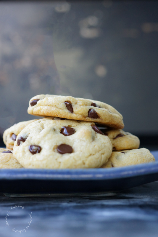 Chocolate-Chip-Cookies mit Karamell