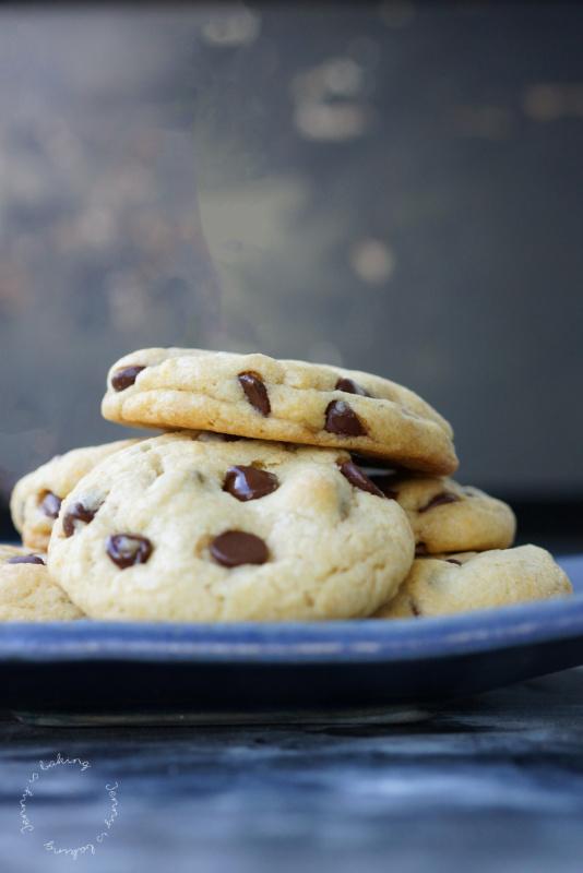 Chocolate-Chip-Cookies mit Karamell