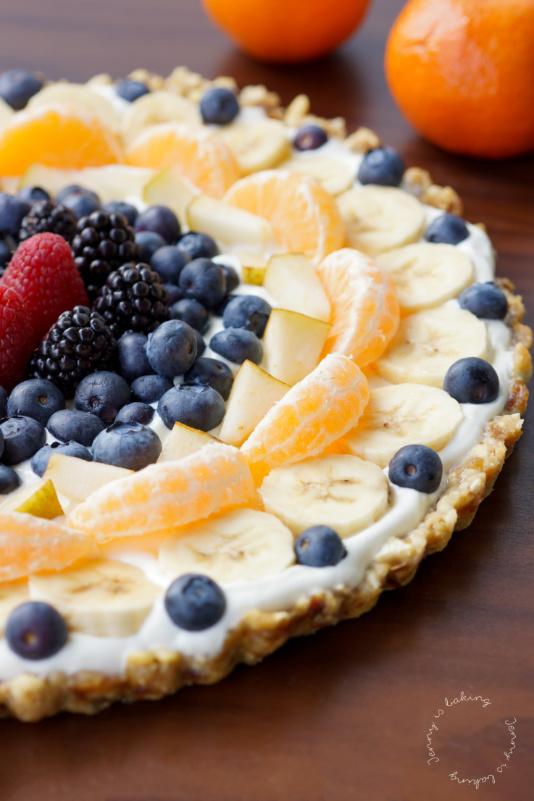 Gesunde Früchte-Pizza (glutenfrei und vegan)