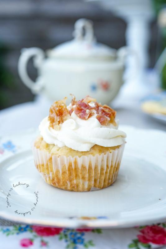 Ahornsirup-Bacon-Cupcakes