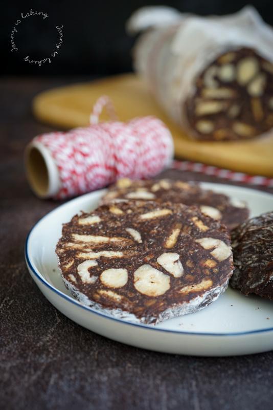 Salchichón de Chocolate oder Schoko-Salami