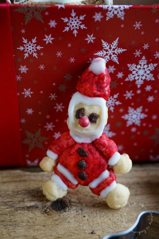 Süßer Nikolaus aus Mürbeteig