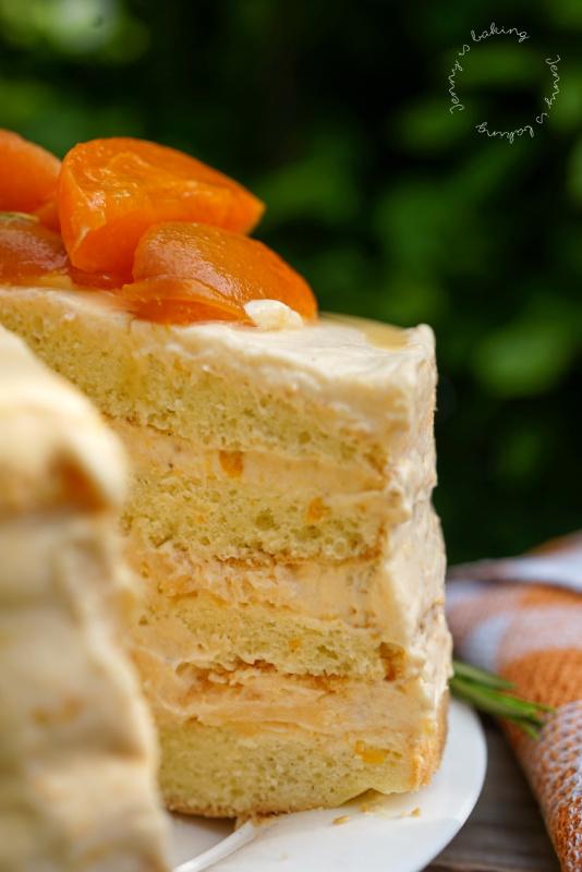 Aprikosen-Rosmarin-Torte