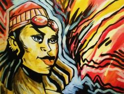 street / comic book art painting