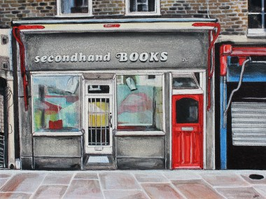 Secondhand bookstore Painting on LowerMarsh Southbank London
