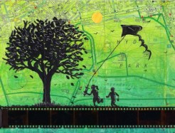 kite flying in hyde park painting