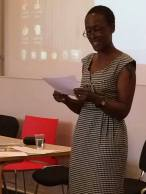 Patience Agbabi delivering her Keynote and fabulous reading.