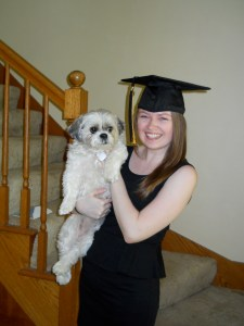 Obligatory graduation photo with Brownie