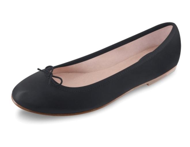 bloch black prima ballerina flats ballet dancer shoes leather