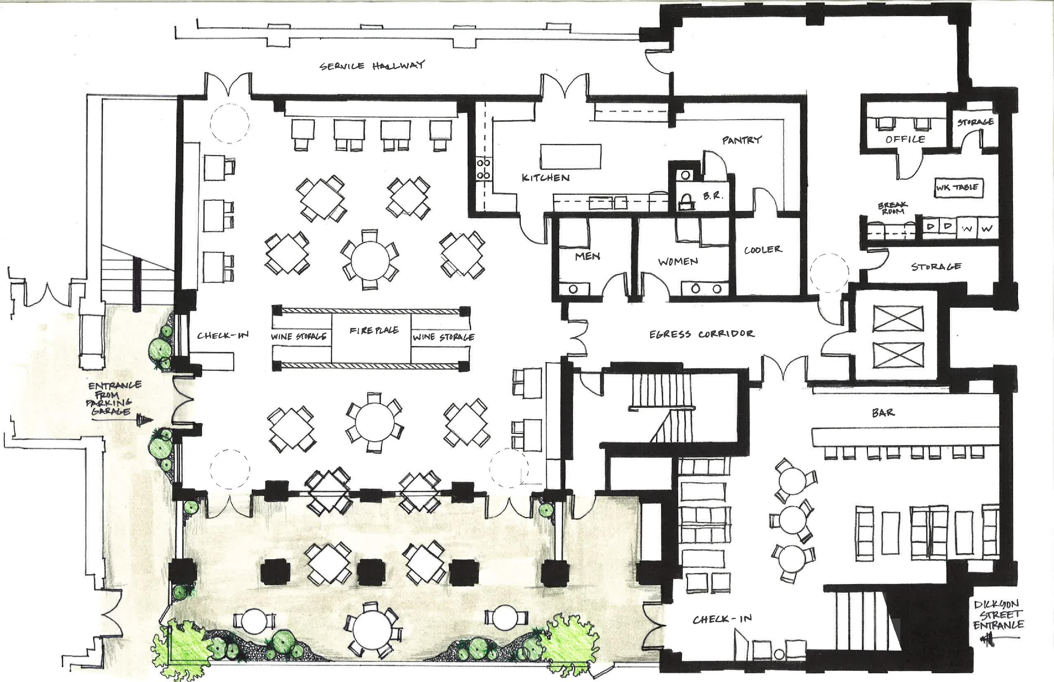 Designing A Restaurant Floor Plan