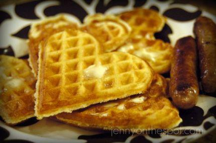 heart waffles