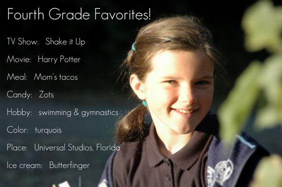 Fourth grade sweetheart