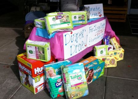 diapers from last week's drive!