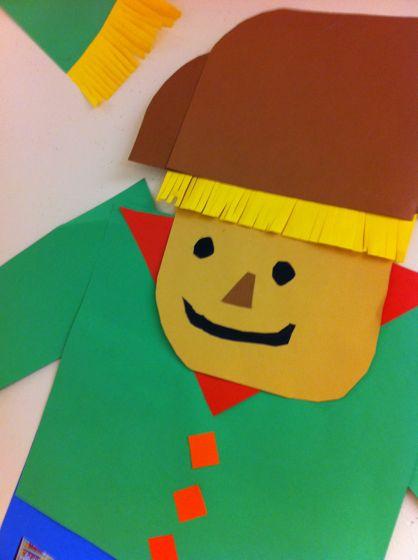 construction paper scarecrow