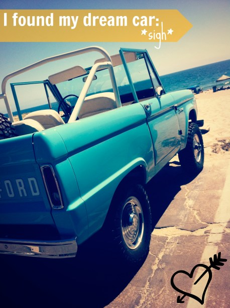 I want a topless Ford Bronco.