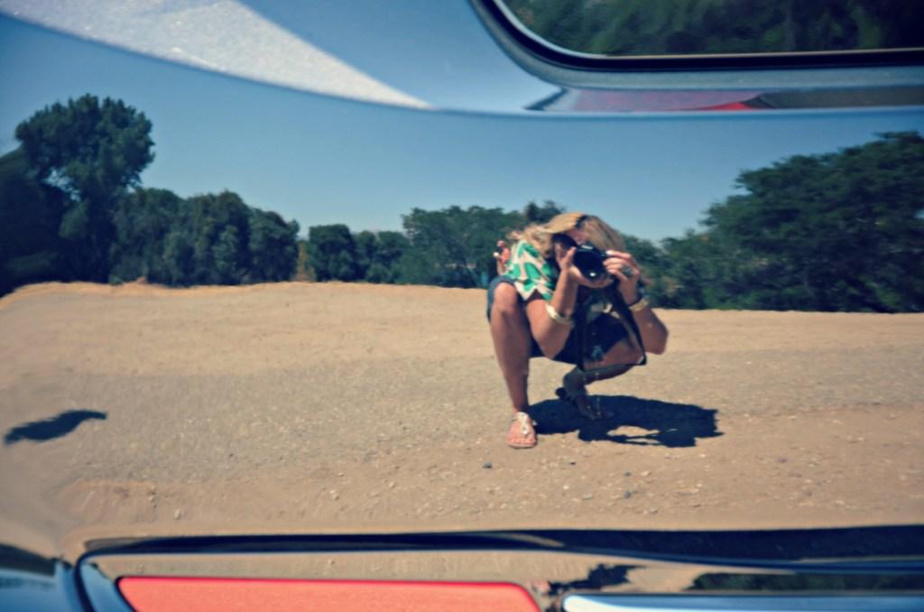 reflection in Honda bumper
