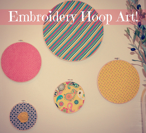 Embroider Hoop Art by @jennyonthespot