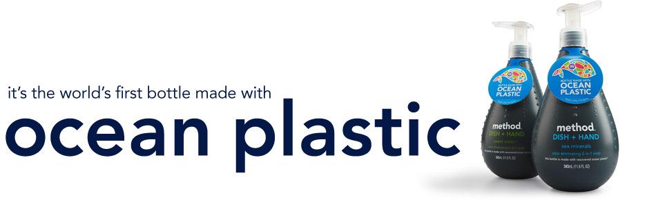 Method makes bottle out of ocean plastic