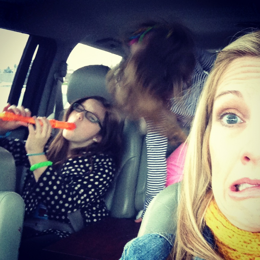 In the car with kids and a recorder via @jennyonthespot