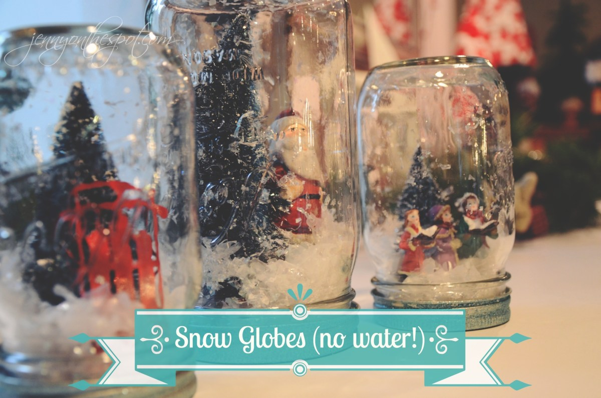 Take It On Tuesday: Make a Craft in a Jar!!! No-Water Snow Globes!