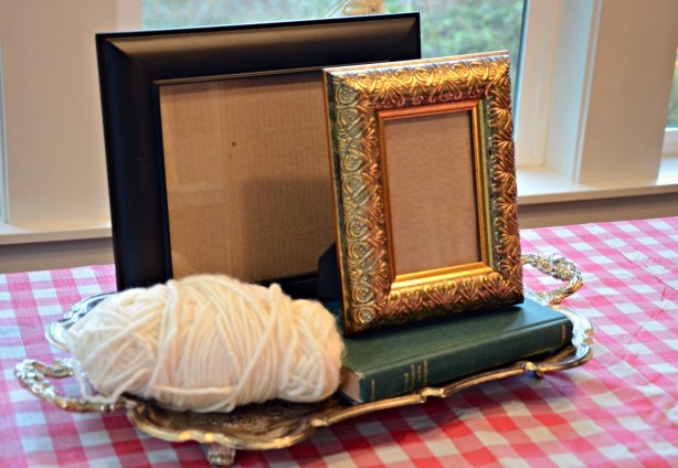 thrifted frame craft supplies via @jennyonthespot