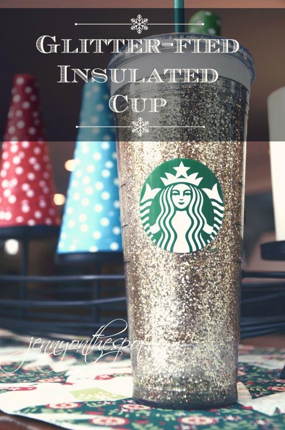 DIY Glittered Starbucks cup via @jennyonthespot // www.jennyonthespot.com