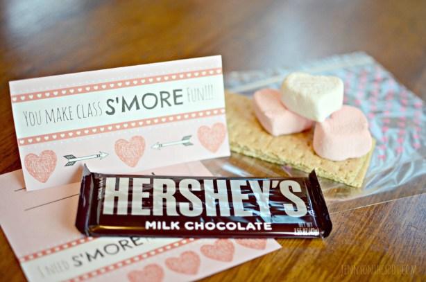 S'more Classroom Valentines, Please. (Free Valentine Printable!) via @jennyonthespot