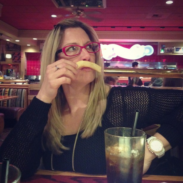 french fry mustache