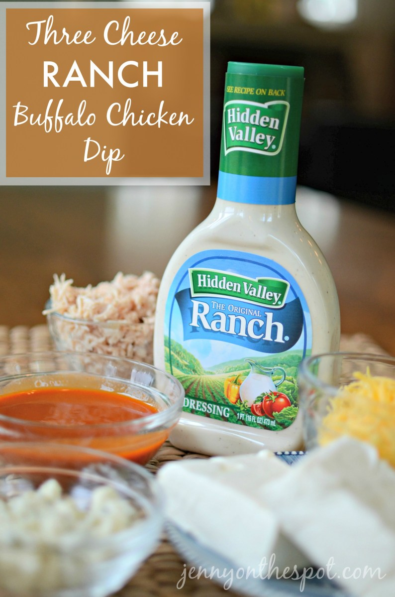 Three Cheese Ranch Buffalo Chicken Dip
