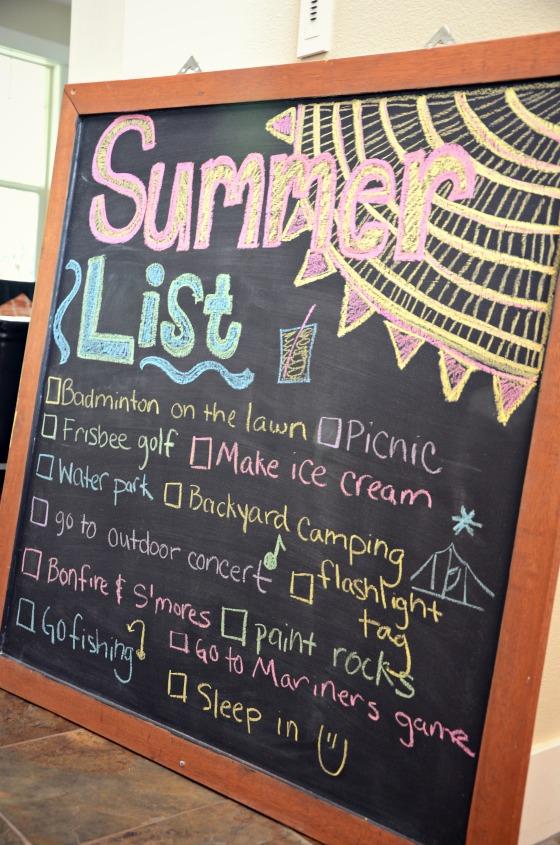 Making Summer Fun: Summer List