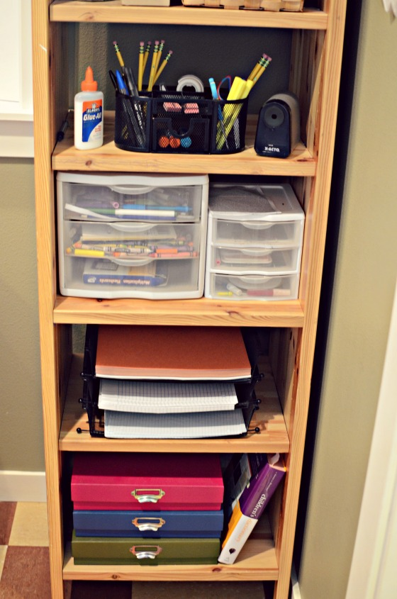 Back To School Homework Station - no excuses here!
