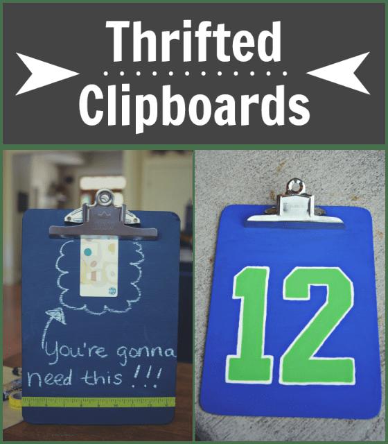 Thrifted clipboard ideas via @jennyonthespot