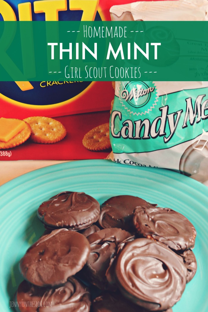 Homemade Thin Mint Girl Scout Cookies via @jennyonthespot