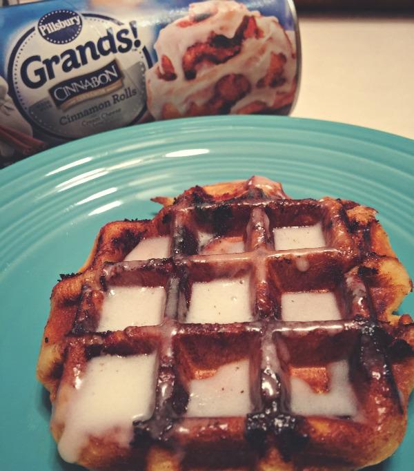 cinnamon rolls in waffle maker via @jennyonthespot