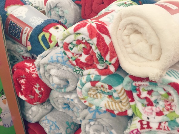 Fleece blankets at Walmart