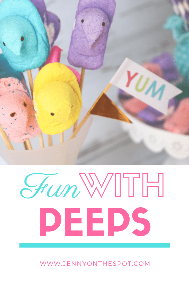 Creative party fun with peeps #peeps #foodcraft #Easter