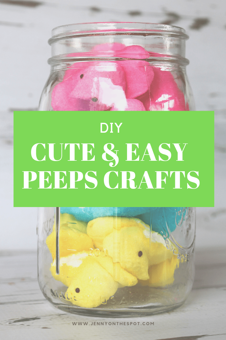 Three cute and easy crafts to create from Peeps #peeps #spring #easter #partyfun
